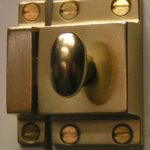 A very nice brass pantry latch