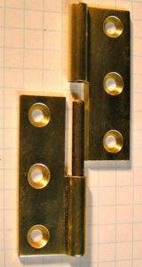 A very nice brass lift off hinge